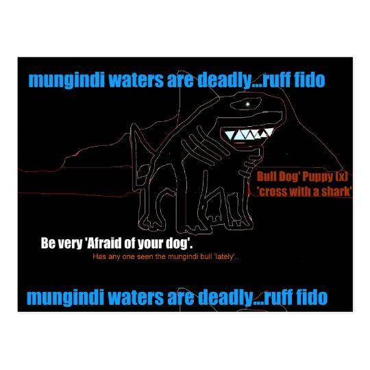 BULL SHARK-munindi puppy ruff breed shirts Postcard