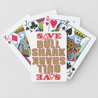 Bull Shark Save Bicycle Playing Cards