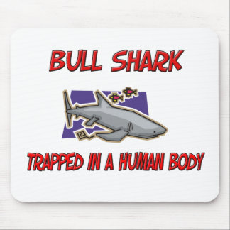 Bull Shark trapped in a human body Mouse Mat