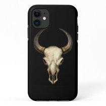 Bull Skull on Black iPhone 11 Case