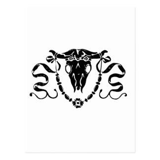 bull skull orna postcard