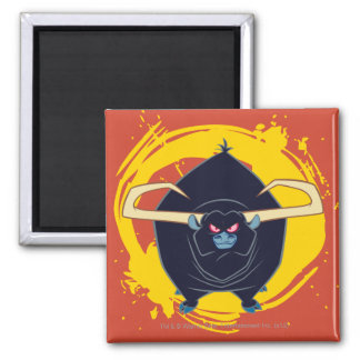 Bull Smiling 2 Inch Square Magnet