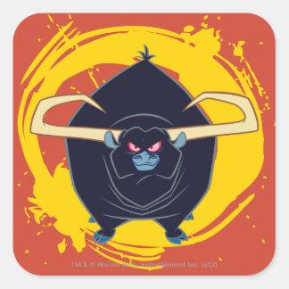 Bull Smiling Square Sticker