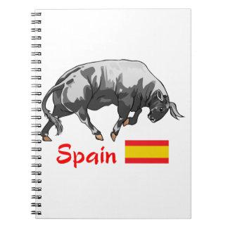 BULL SPAIN FLAG NOTE BOOKS