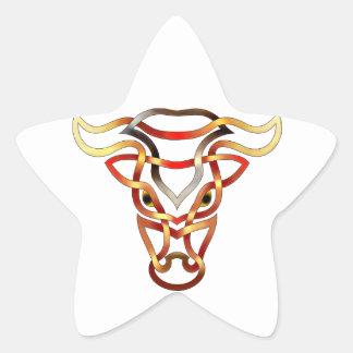 Bull Star Sticker
