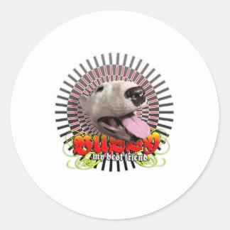 bull round stickers