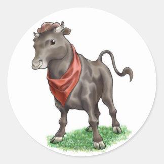 Bull - Sticker- Classic Round Sticker