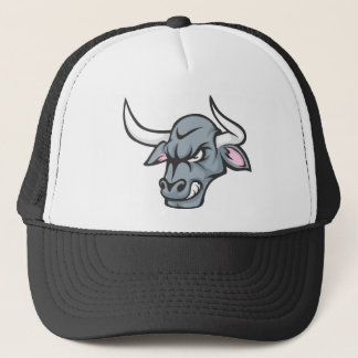 Bull T Shirt | Custom Angry Bull Head T Shirt Trucker Hat