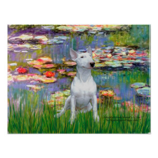 Bull Terrier 1 - Lilies 2 Posters