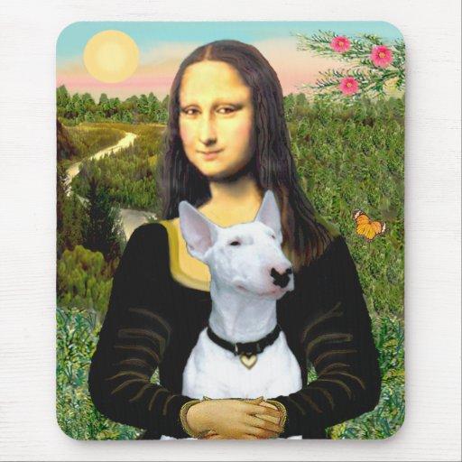Bull terrier 1 - Mona Lisa Alfombrillas De Ratones