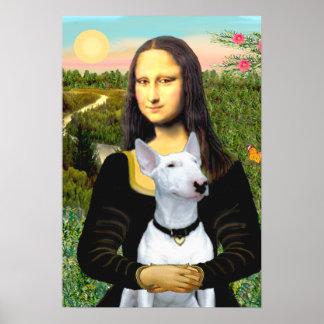 Bull Terrier 1 - Mona Lisa Poster