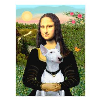 Bull terrier 1 - Mona Lisa Tarjetas Postales