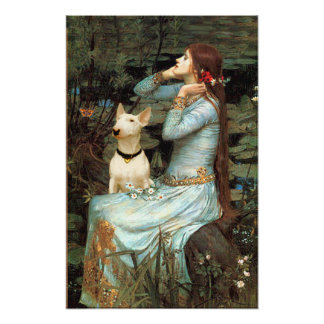 Bull Terrier 1 - Ophelia Seated Posters