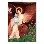 Bull Terrier 1 - Seated Angel Greeting Cards