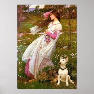 Bull Terrier 1 - Windflowers Print