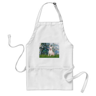 Bull Terrier 4 - Lilies 1 Adult Apron