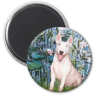 Bull Terrier 4 - Lilies 1 Magnet