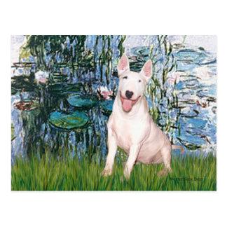 Bull Terrier 4 - Lilies 1 Postcard