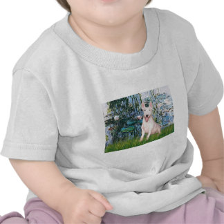 Bull Terrier 4 - Lilies 1 Tshirt