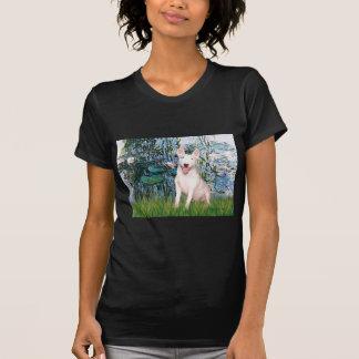 Bull Terrier 4 - Lilies 1 T-shirt
