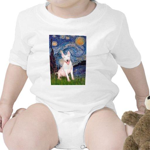 Bull terrier 4 - Noche estrellada (Vert) Traje De Bebé