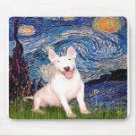 Bull terrier 4 - Noche estrellada (Vert) Alfombrilla De Ratones