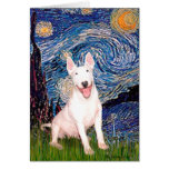 Bull terrier 4 - Noche estrellada (Vert) Tarjeton