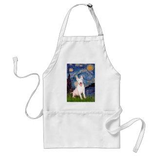Bull Terrier 4 - Starry Night (Vert) Adult Apron