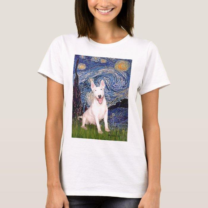 Bull Terrier 4 - Starry Night (Vert) T-Shirt