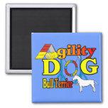 Bull_Terrier_Agility Imanes De Nevera