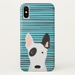 Case-Mate Barely There iPhone X Case with Bull Terrier Phone Cases design