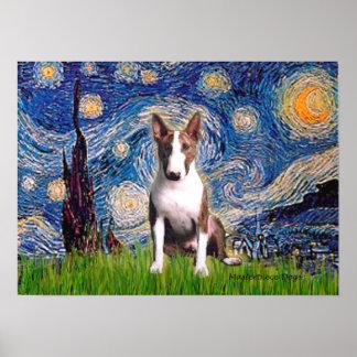 Bull Terrier (Br) - Starry Night Poster