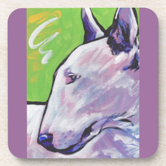 Bull Terrier Bright Colorful Pop Dog Art Drink Coaster