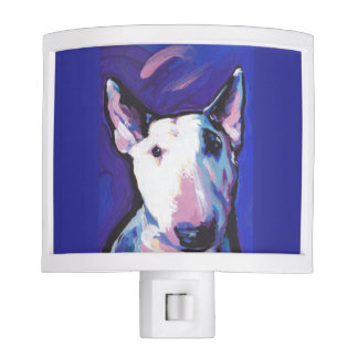 Bull Terrier Bright Colorful Pop Dog Art Night Light