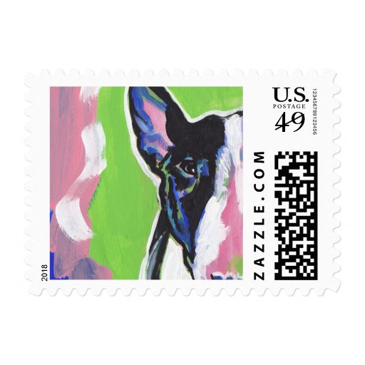 Bull Terrier Bright Colorful Pop Dog Art Postage