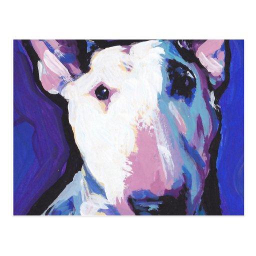 Bull Terrier Bright Colorful Pop Dog Art Post Card