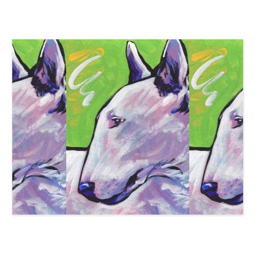 Bull Terrier Bright Colorful Pop Dog Art Postcards