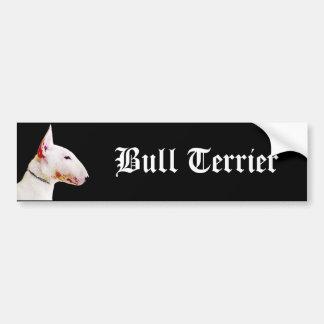 Bull Terrier bumper sticker Car Bumper Sticker