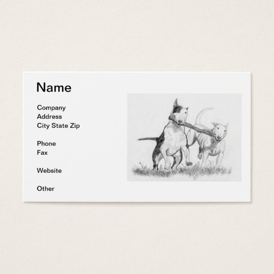 Bull Terrier Business Cards