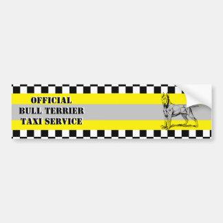 Bull Terrier Car Bumper Sticker