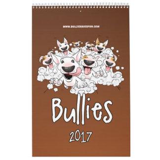 Bull Terrier Cartoon Calendar 2017