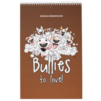 Bull Terrier Cartoon Calendar 2018