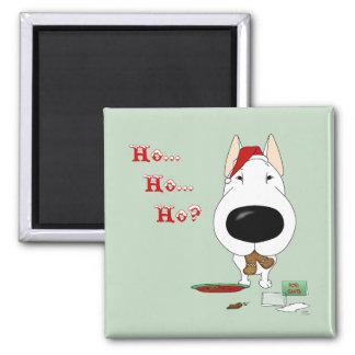 Bull Terrier Christmas 2 Inch Square Magnet
