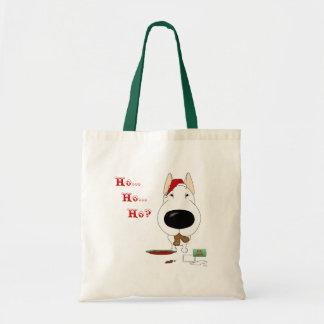 Bull Terrier Christmas Budget Tote Bag