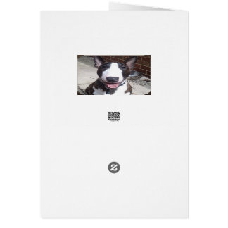 Bull Terrier Christmas Card