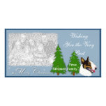 Bull Terrier Christmas cards Picture Card