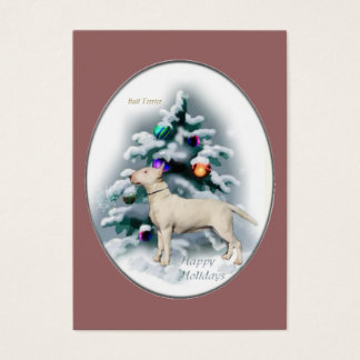 Bull Terrier Christmas Gifts Business Card