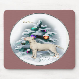 Bull Terrier Christmas Gifts Mouse Pad