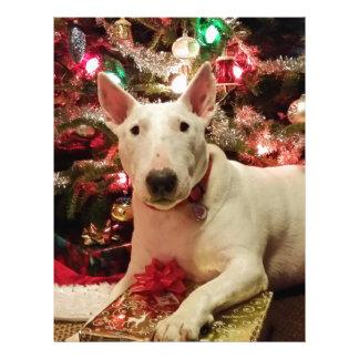 bull terrier christmas letterhead