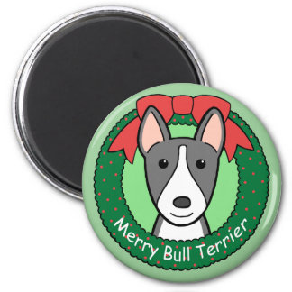 Bull Terrier Christmas Refrigerator Magnets